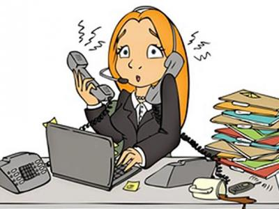 Call centre cartoon