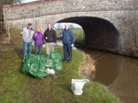 Canal litter pick Feb 2013