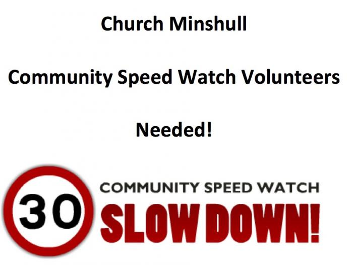 Church Minshull Community Speed Watch Poster