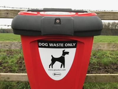 Dog bin close up