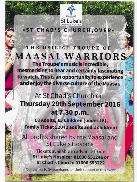 Maasai Warriors St Chad's