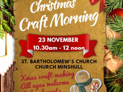 Messy Church Xmas craft morning 2019 poster