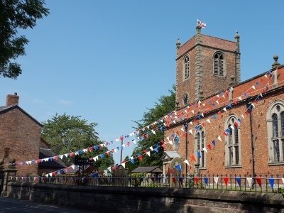The Church dressed for the Queens 90th